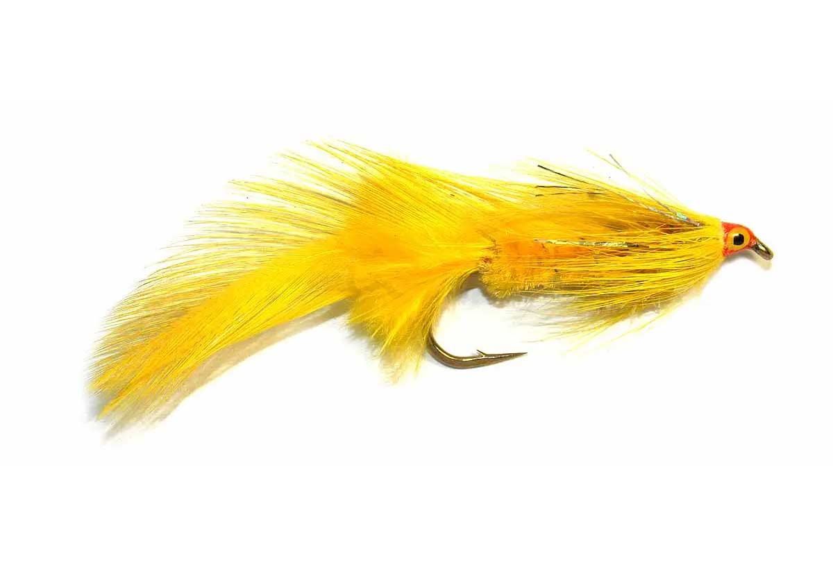 The Yellow Lady. feathered lures for salmon.