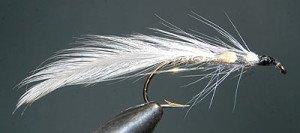 Grey Ghost tied on Mustad 3666 hook.