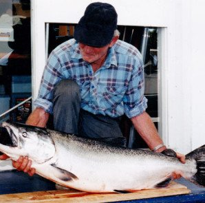 Norm Thackwell and his 42 pounder!