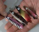 Turbo or Toby trout lures.