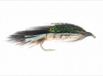 Hopes Dark trout streamer fly or lure.