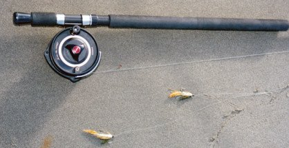 Canterbury lure rod with two lures.