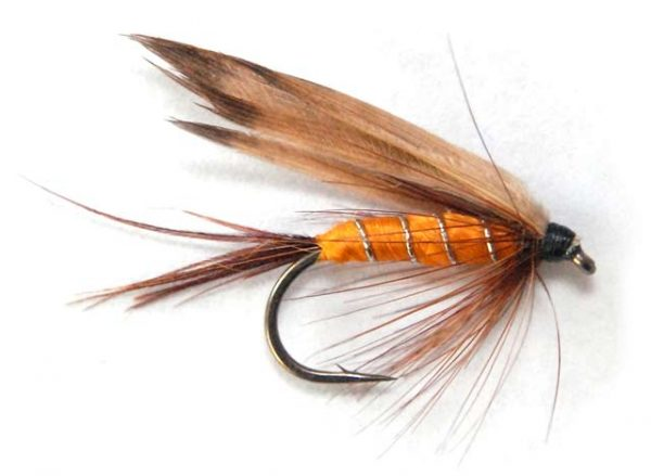 Partridge and orange wet fly - winged version.