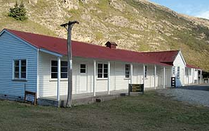 The old Single Men's Quarters at Hakatere Corner once provided accommodation for farm workers and shearing gangs working on the vast Hakatere Sheep Station.