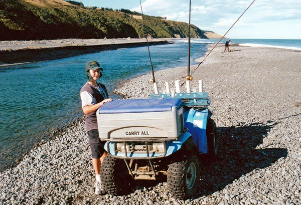 Hurunui River mouth quad bike.
