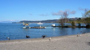 Lake Taupo float plane. Trout fishing trips. Lake Taupo Trout Fishing.