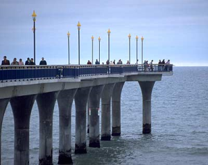 New Brighton Pier is a popular fishing spot.
