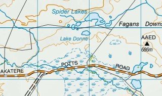 Spider Lakes and Lake Donne.