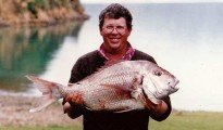 Bruce Gardner with 11 kg snapper caught near Maud Island.