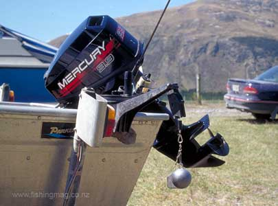 Trolling for trout and salmon with down riggers and flat for Cannon fish company