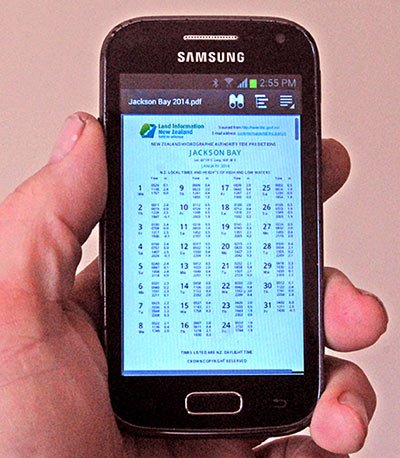 Tide Tables On Smartphone Fishingmag