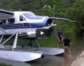 Lake Tarawera Trout Fly Fishing: Float plane.