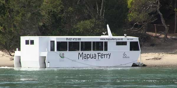 The Mapua ferry runs passengers back and forth from Mapua to Rabbit Island.