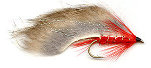 Red rabbit trout lure.