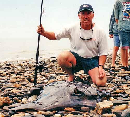40kg Eagle Ray caught at Tukurua Beach, Nelson.