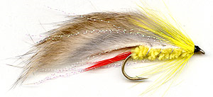 Yellow rabbit trout lure