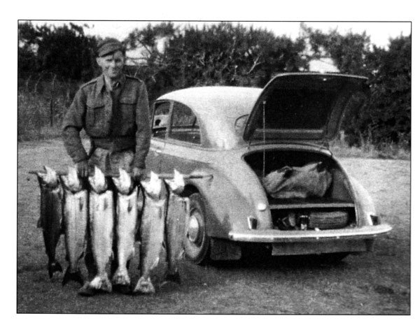 50 years of salmon fishing. A super weekend's fishing. March 1955.