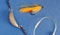 With the aid of a D lead and about 1.2m of monofilament you can fish a fly on spinning gear.