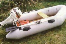 The 2.7m inflatable boat was very light and portable.