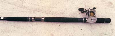 A second low-mount reel seat has been added to this salmon/surf rod.