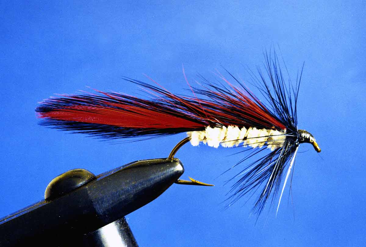 Red Shadow - an old Canterbury trout fly pattern.