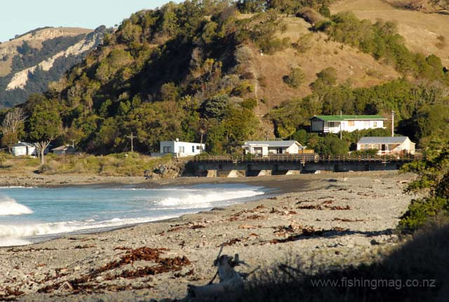 Oaro is about 22kms by road south of Kaikoura. A beautiful little spot.