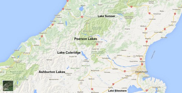 North Canterbury lakes together with the Ashburton Lakes which are in the Central South Island Fish & Game Region.