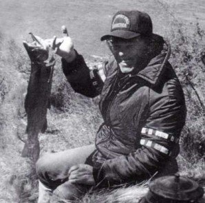 Garry with a good sized rainbow trout.
