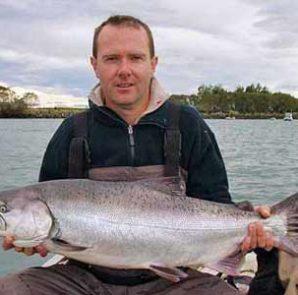 A good sized salmon taken at McIntoshes 2007.