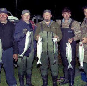 Fishermen at Lake Coleridge.