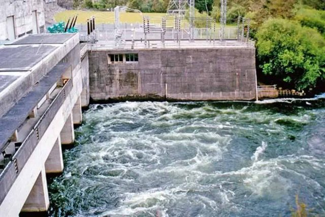 Tail race of the Waipapa Dam on the Waikato River. All photographs on this page courtesy of Denis Moresby.