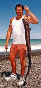 Conger eel landed Nape Nape Beach.