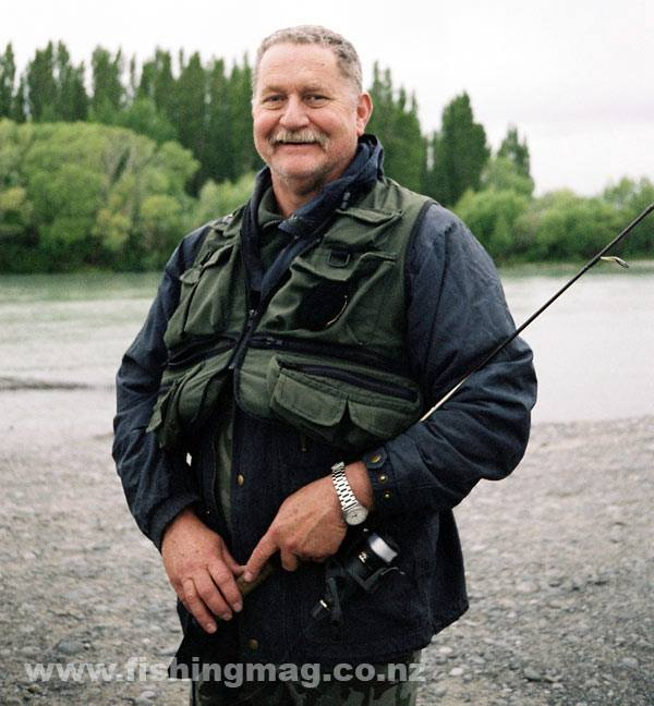 Allan Burgess on the lower Waimakariri River.