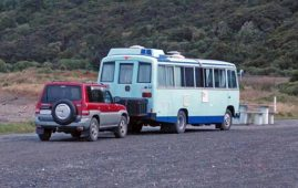 The campervan angler in New Zealand.