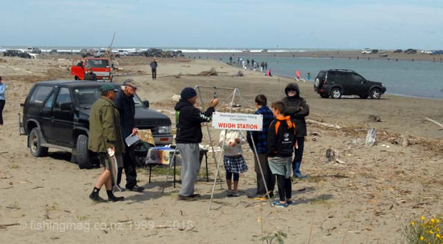 Weigh Station at the Waimakariri River mouth. Salmon Fishing in the Lower Waimakariri River Video