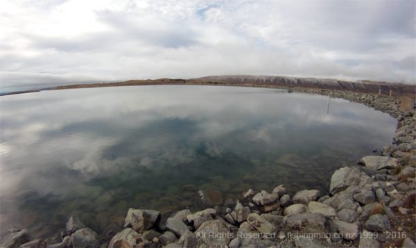 Looking across the bowl at the southern end of the Tekapo Canal. Twizel Canals Fishing Tips