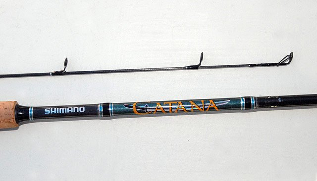 The Shimano Catana 792, two piece rod is very well finished