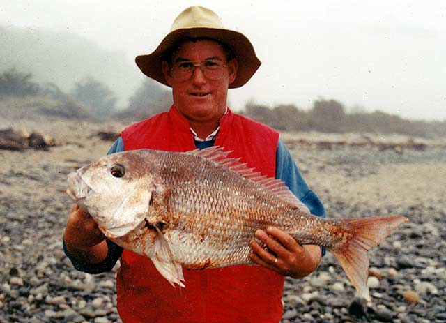 Snapper caught from Gentle Annie Beach.
