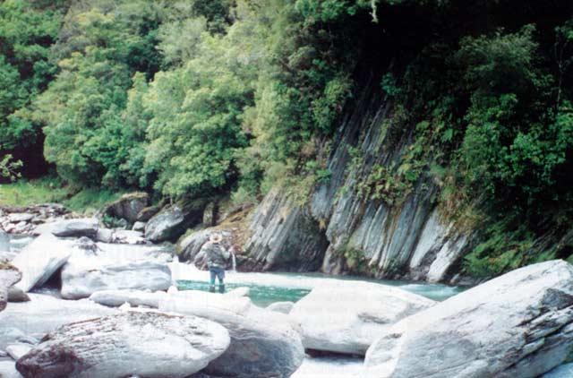 Hokitika Holiday. A pool on the upper Styx River.
