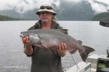 Lake Paringa salmon Westland, south-Island of New Zealand.
