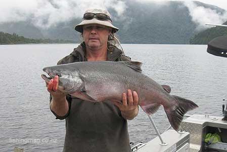 Lake Paringa salmon Westland, south-Island of New Zealand.