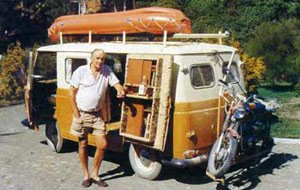Lofty with his Commer van.