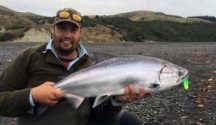The best salmon fishing rivers New Zealand map salmon Charles Smith.
