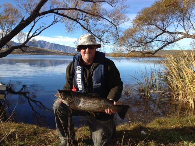 Darren Shields with a 4.19 kg Brown Female trout. At lake Alexandrina Closing weekend. Congratulations Darren. That is a very good fish indeed. Photograph courtesy of Darren Shields.