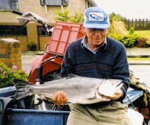 This salmon was caught in Bluff Harbour in 1998.