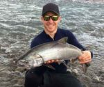Brad Stuart with an early season salmon.