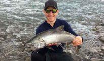 Brad Stuart with an early season salmon.