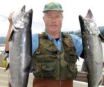 Kevin Belcher with a couple of good salmon from 2008.