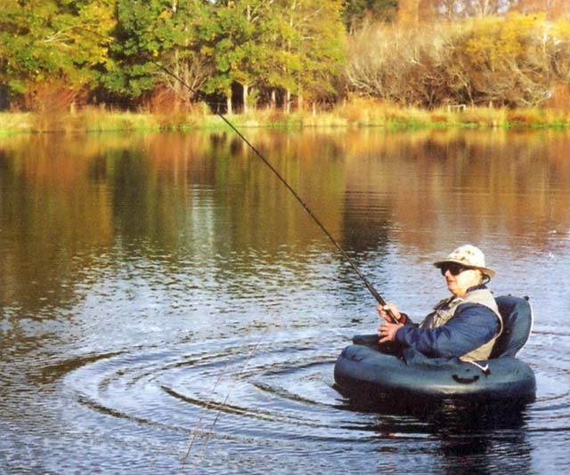 Float tubes for trout fishing provide access to for Fly fishing float tube