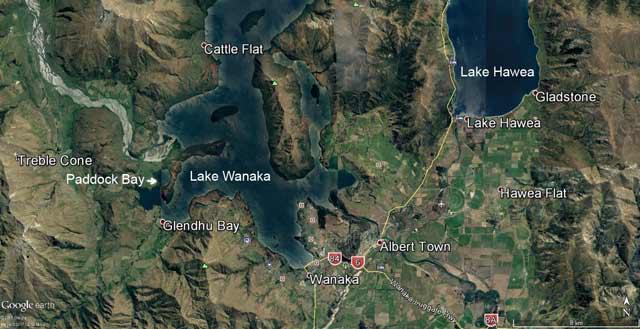 Paddock Bay. Map courtesy of Google Maps and DigitalGlobe.
